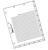54520 53520 Series Divider Sheets
