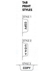 Tab Print Styles
